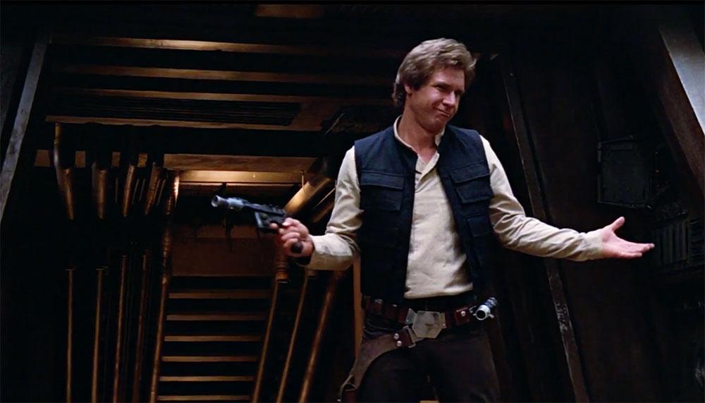 Voor een klein vermogen bezit je het laserpistool van de one and only stuck-up, half-witted, scruffy-looking nerf herder. Je leest het goed: de blaster van Han Solo is te koop.