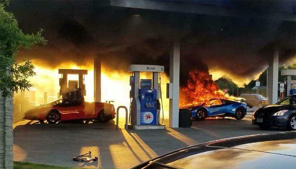 Het zal je maar gebeuren, je Lamborghini Huracán Performante fikt af door een lullig foutje van een ander. Brrrrr.