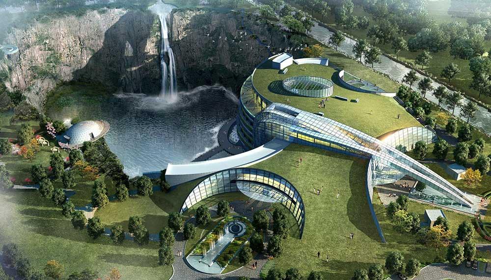 In China opent binnenkort het eerste ondergrondse hotel ter wereld. Een oude steengroeve bleek de perfecte plek om om te toveren tot luxe hotel.