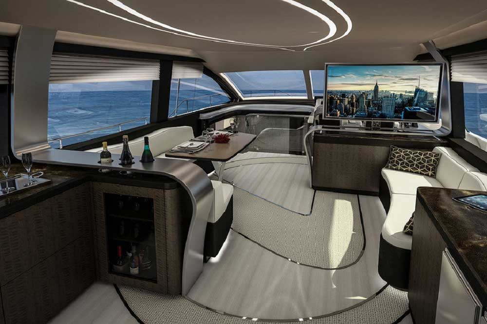 Lexus presenteert een nieuw vlaggenschip: de Lexus LY 650. Met recht een vlaggenschip, want in dit geval gaat het niet om een auto maar om een heus jacht.
