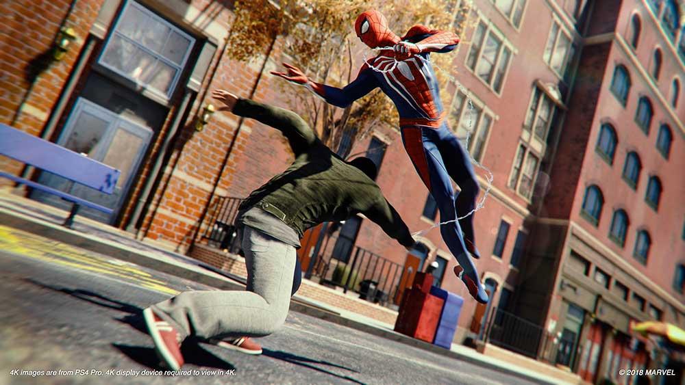Als je mocht kiezen tussen wereldvrede en de krachten en spullen van Marvel's Spider-Man, welk gebouw zou je dan eerst beklimmen?