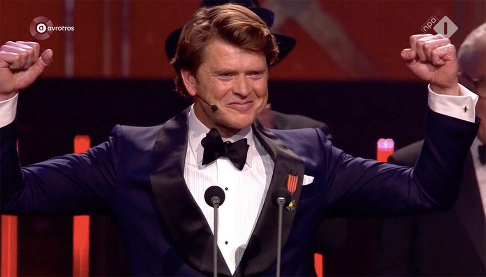 Beau van Erven Dorens wint de Gouden Televizier-Ring.