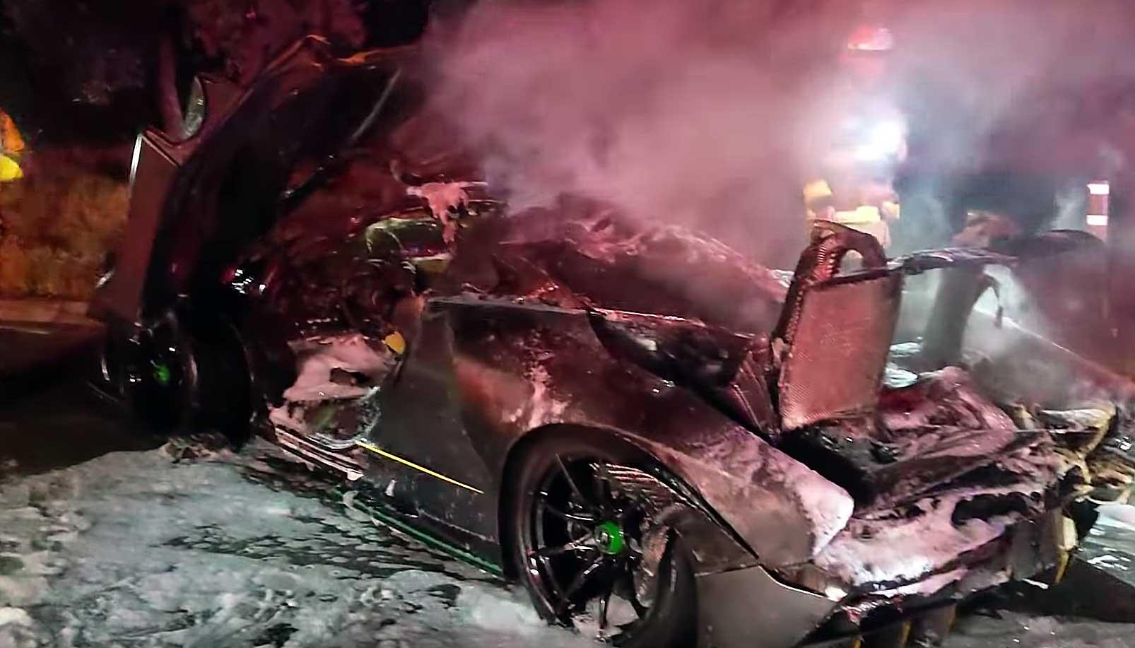 McLaren Senna brandt af
