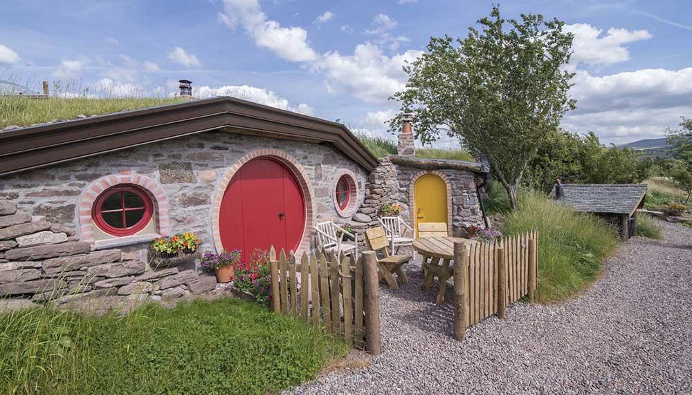 slapen in een Hobbit-huis