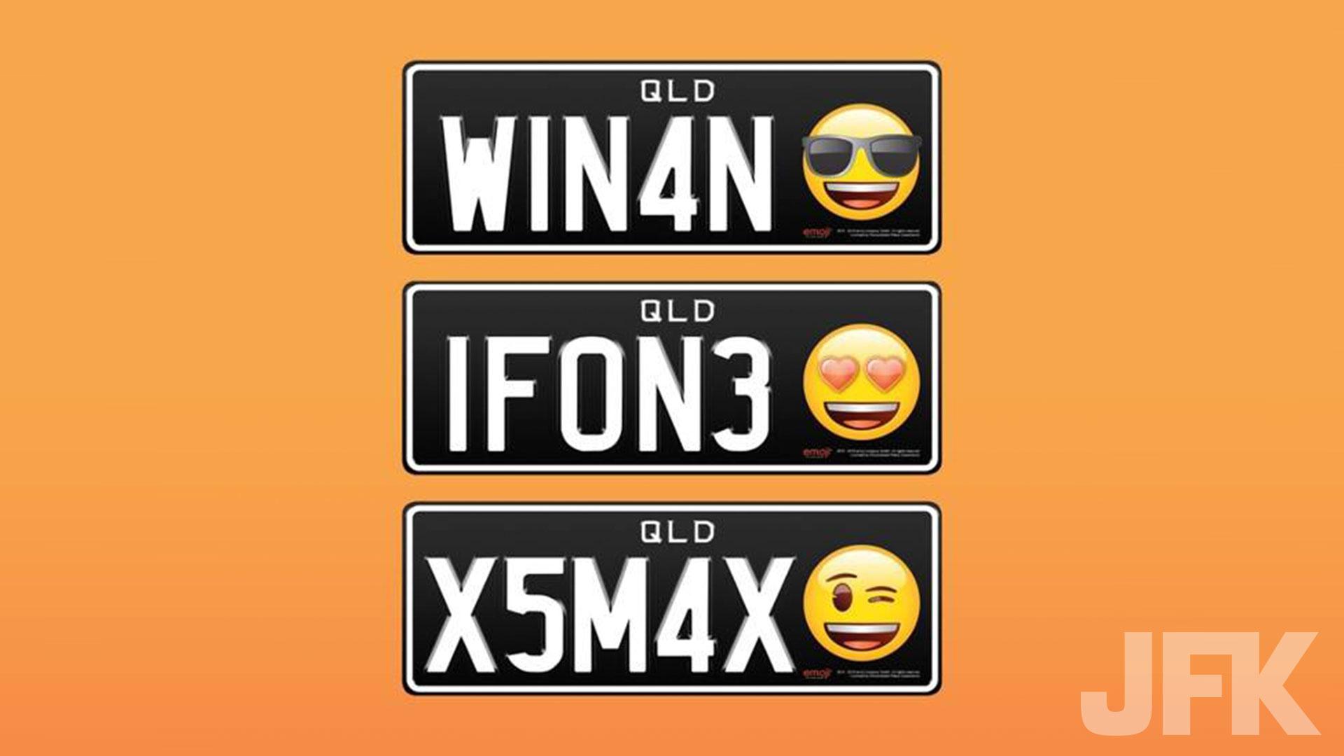 kentekenplaat met emoji australie