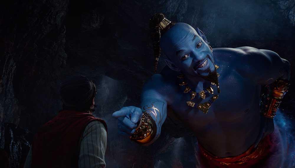 Will Smith als geest in Aladdin