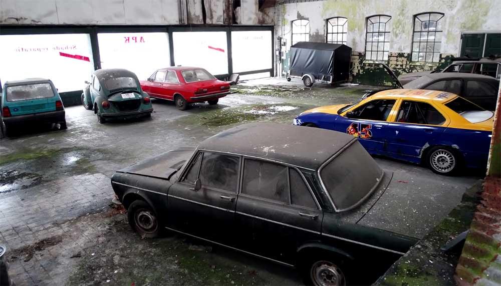 Vervallen garage in Nederland