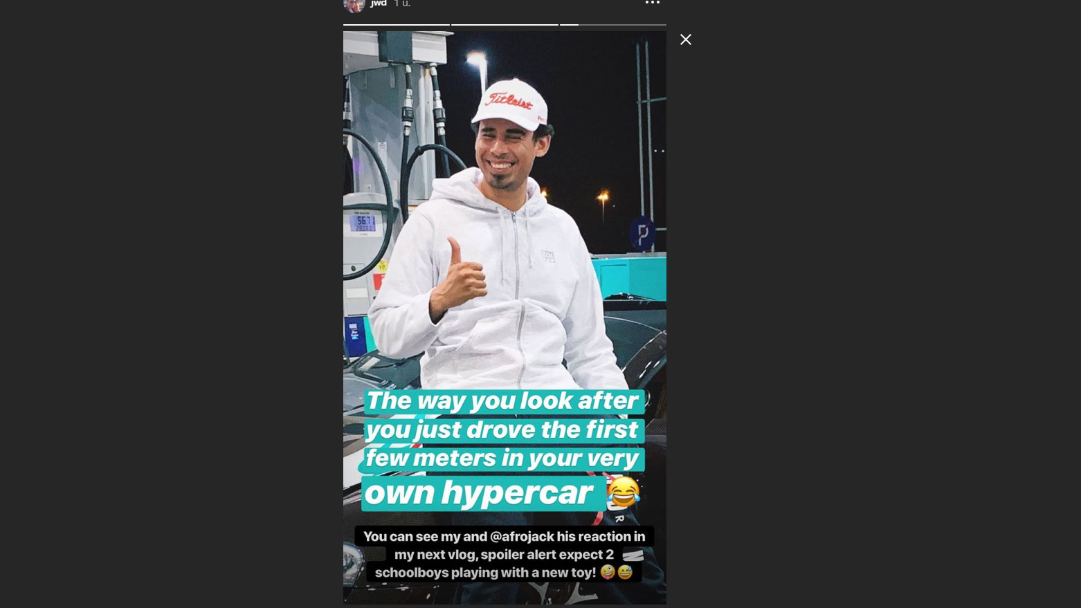 Jordy Dost Instagram Story
