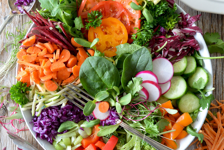 Friet gezonder salade