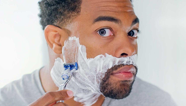 geïrriteerde huid na het scheren