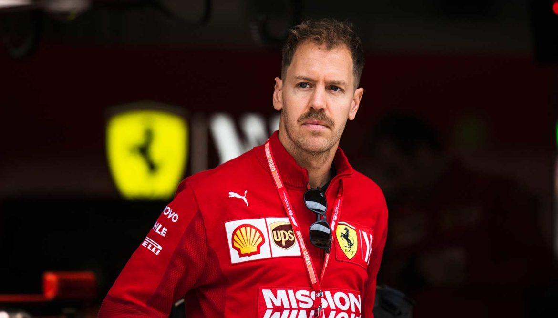 Snor van Sebastian Vettel