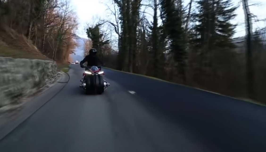 Vliegende motorfiets van Lazareth