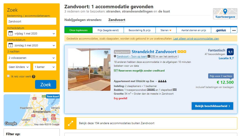 Appartement huren in Zandvoort