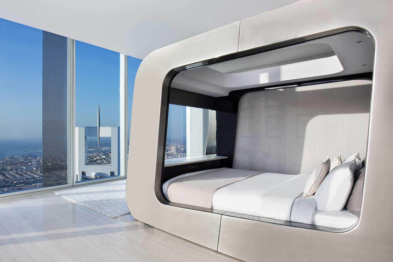 bed met ingebouwde tv