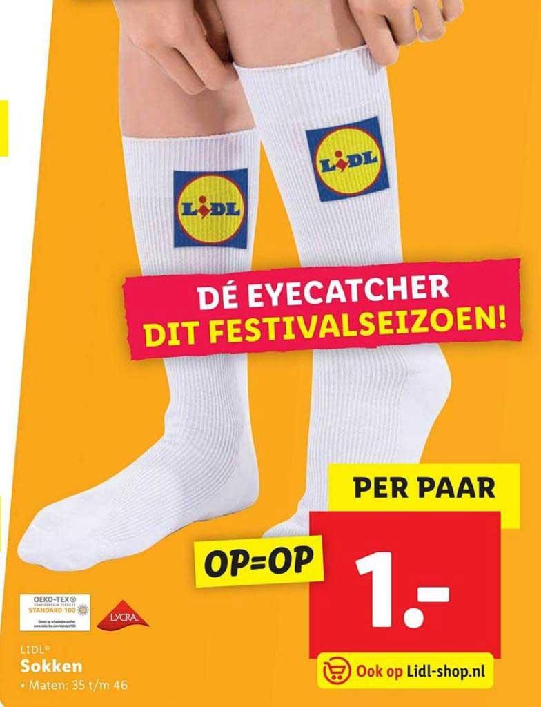 Sokken met Lidl-logo