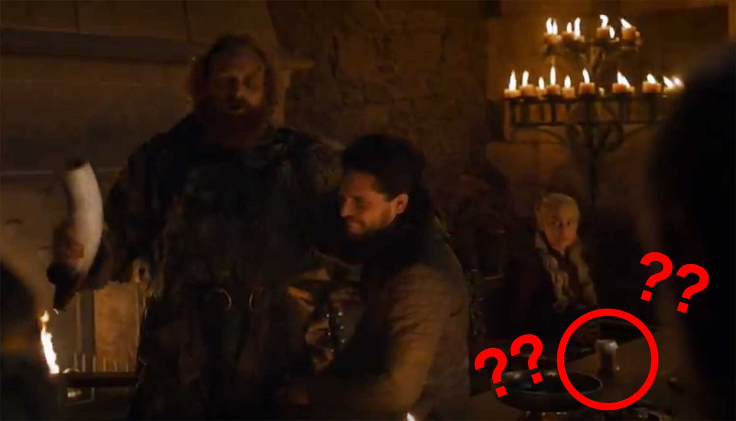 Starbucks-beker in Game of Thrones