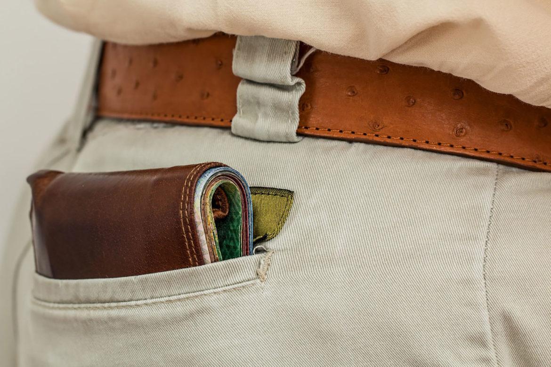 stoere leren portemonnee