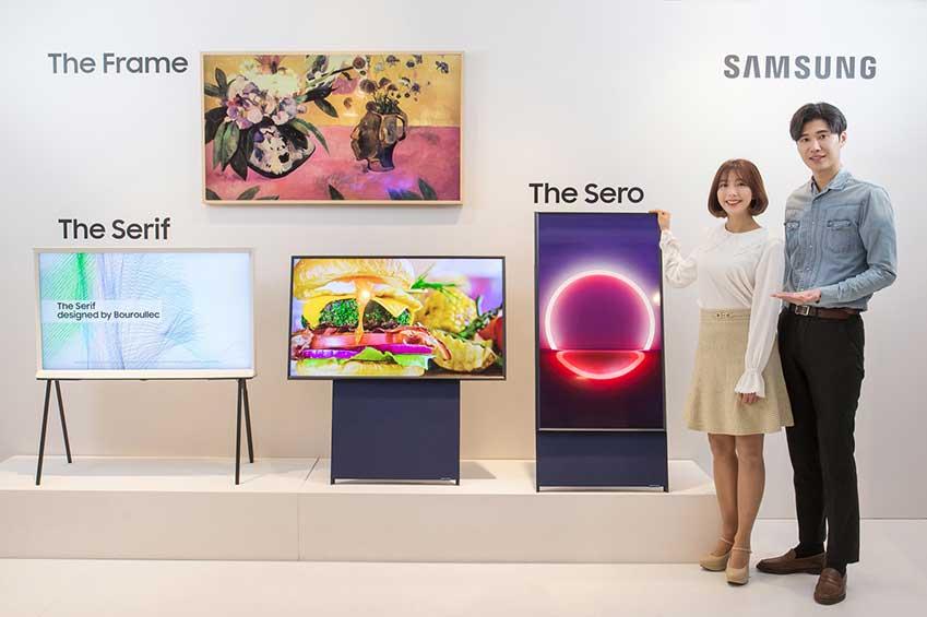 Verticale tv van Samsung