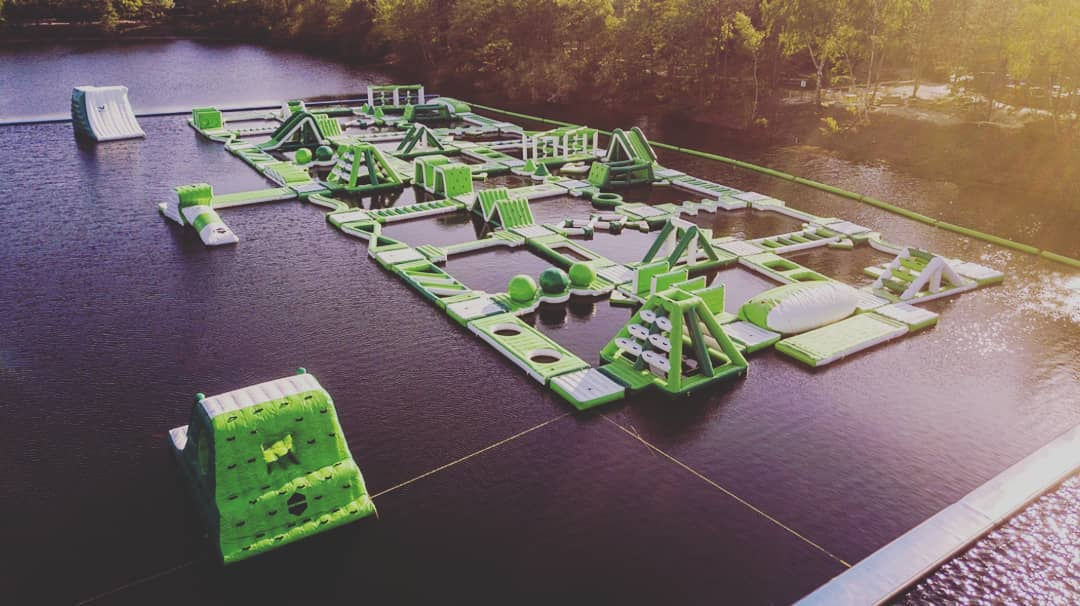 Waterparcours bij Center Parcs De Vossemeren