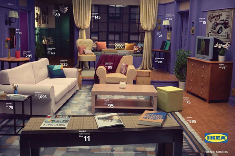 Monica's huiskamer uit Friends te koop bij Ikea