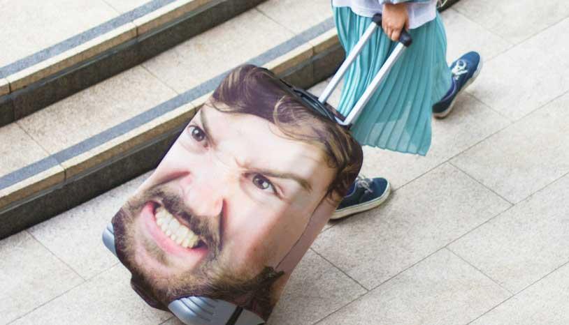 Gepersonaliseerde koffer met je eigen foto