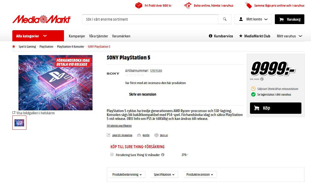 playstation 5 preorderen
