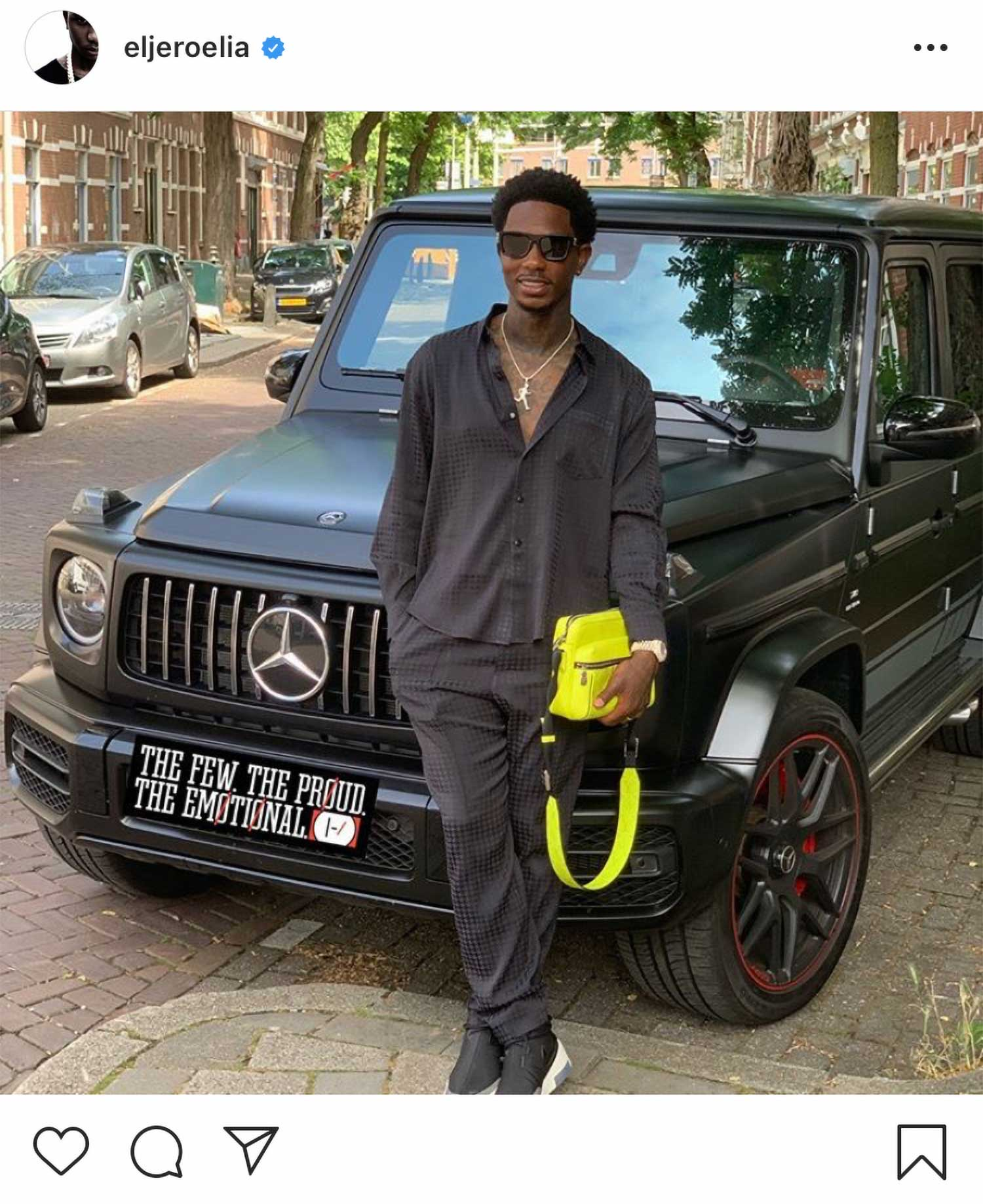 nieuwe auto van Eljero Elia