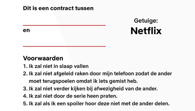 Samenkijk contract van Netflix
