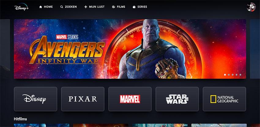 Disney+ Homepage