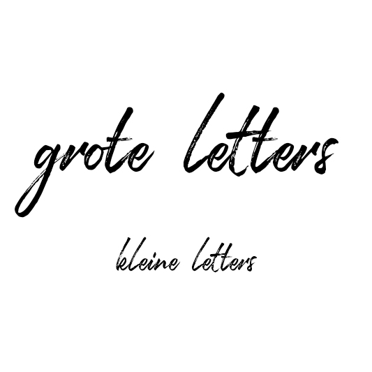 Handschrift - lettergrootte