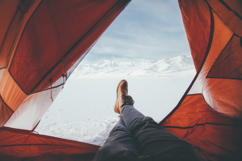 Winter kamperen