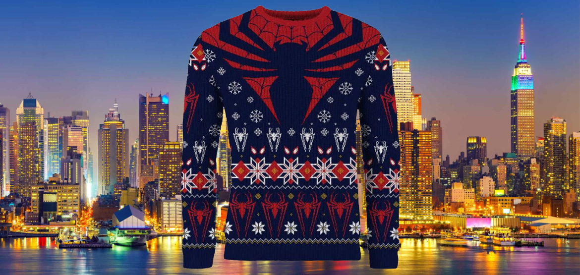 spiderman kersttrui