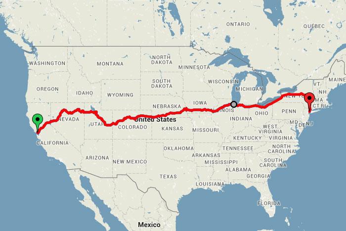 Treinreizen roadtrip door Amerika