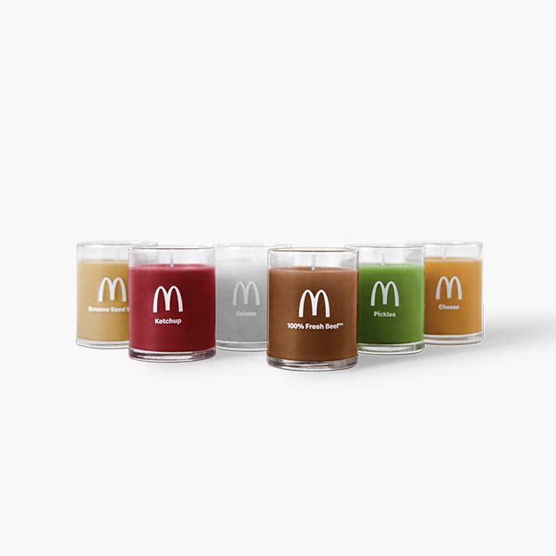 McDonald's kaarsen met Quarter Pounder geur