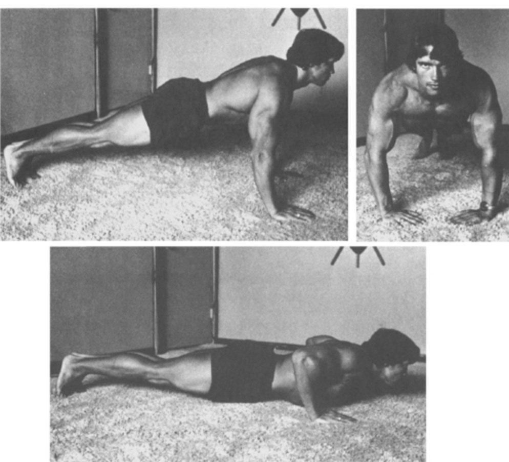 Arnold Schwarzenegger push-up
