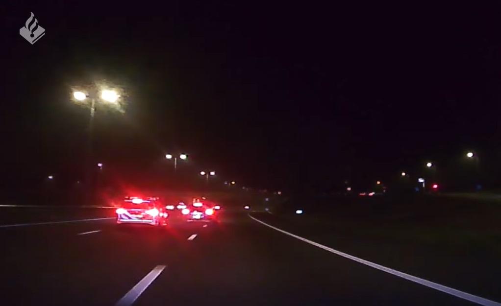 politie achtervolging A27