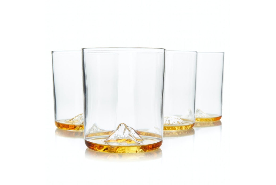 Unieke whisky glazen on the rocks