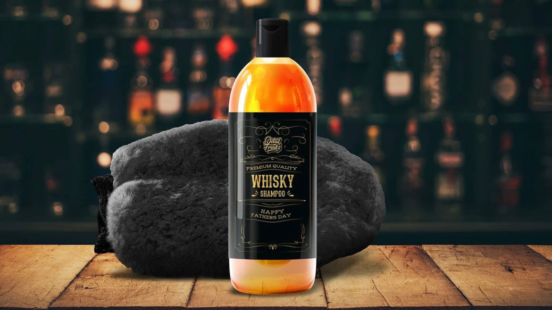 Whisky-autoshampoo voor Vaderdag