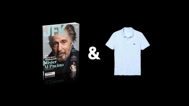 Tweejaars abonnement JFK Magazine met Lacoste polo