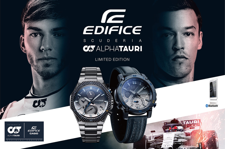 Casio en Scuderia AlphaTauri lanceren nieuwe modellen