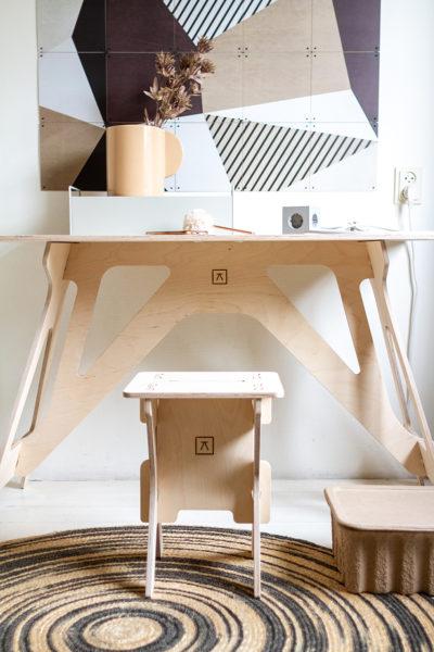Händig maakt praktische meubels voor thuiswerkers