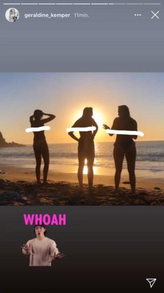 Instagram verwijder topless Geraldine Kemper en vriendinnen