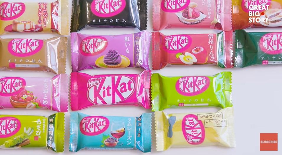 Al ruim 400 smaken Kit Kat in Japan