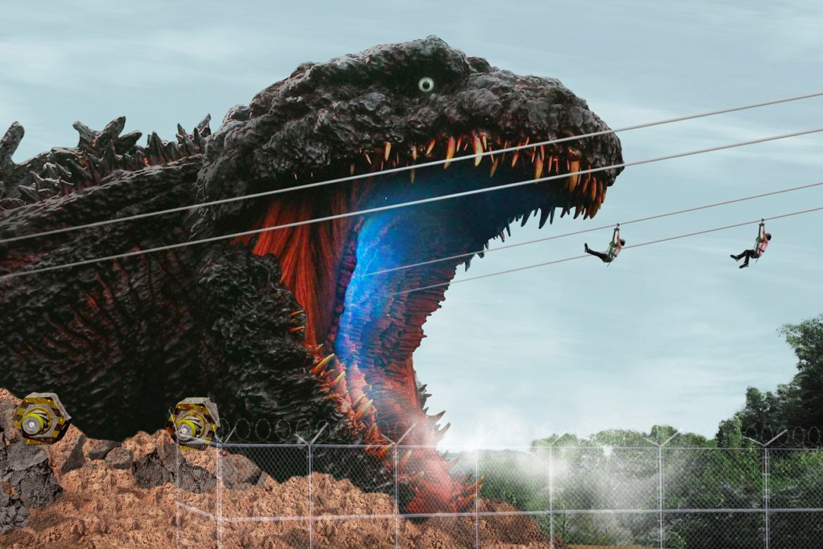 Godzilla attractie geopend on Japan