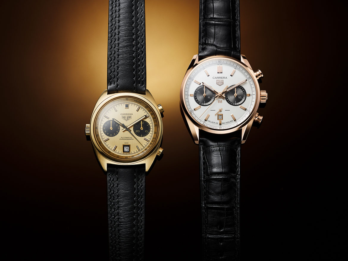 Gouden TAG Heuer Carrera Chronograph Jack Heuer Birthday Gold Limited Edition