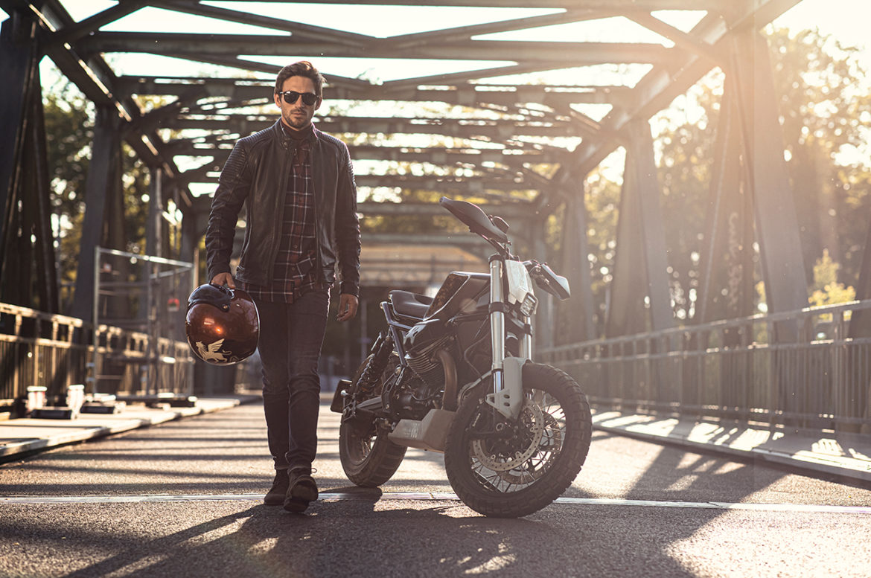 Vanguard en Moto Guzzi matchen V-Jeans met custom bike