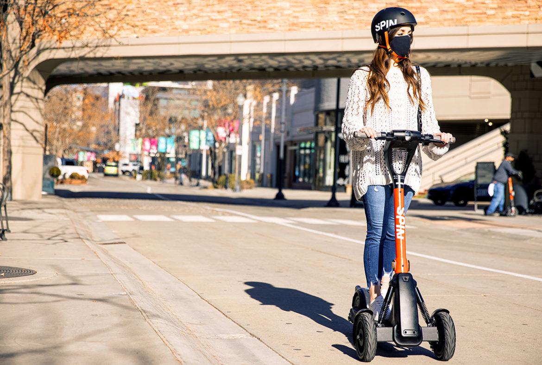 Zelfrijdende elektrische step van Spin al dit jaar in Europese steden