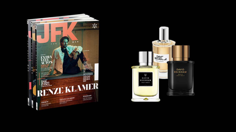 JFK abonnement met David Beckham-giftset
