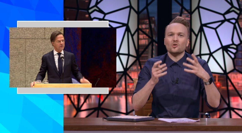 Zondag Met Lubach kritiek op aanpak relschoppers van Mark Rutte
