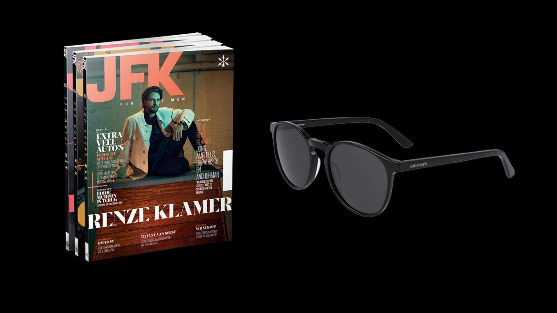 JFK abonnement met Calvin Klein zonnebril